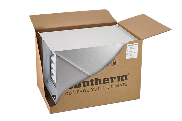 Dantherm Flexibox 900 indoor model in transportation box
