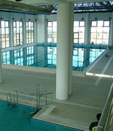 Ventilation and dehumidification in public swimming pool