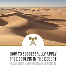 Dantherm free cooling in the desert with AirMaze air inlet protection