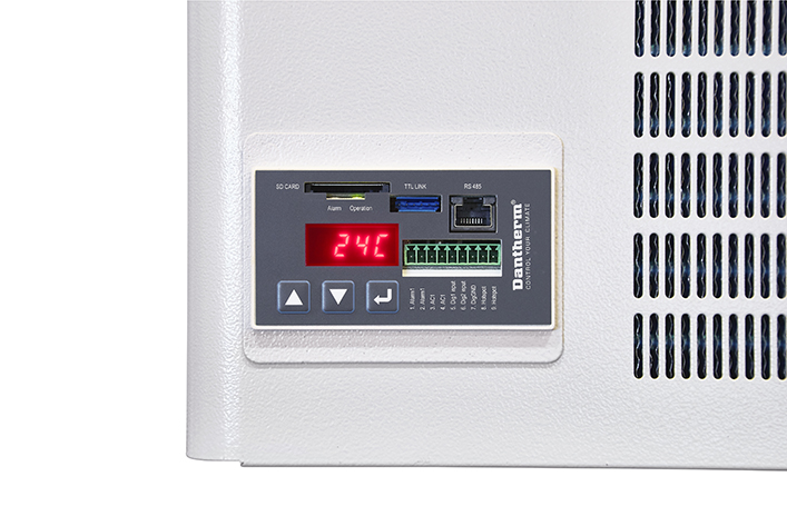 Dantherm DC Split Air Conditioner for Telecom, view of built-in controller Dantherm CC0.