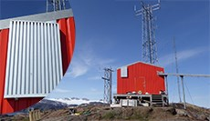 Dantherm AirMaze (pat.pend.) mounted on wall in Greenland.