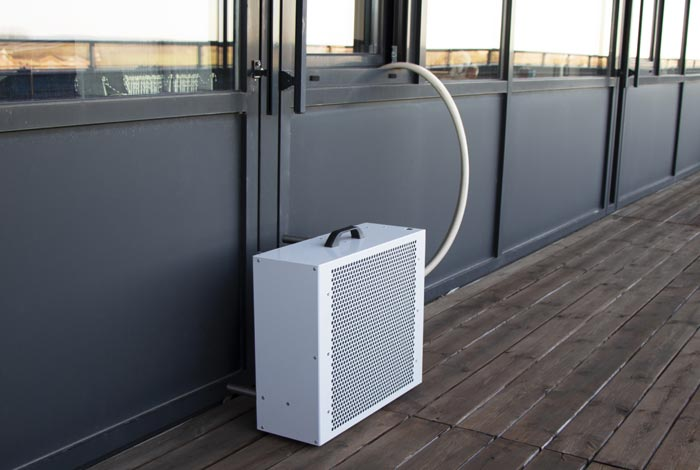 Single outdoor unit installation